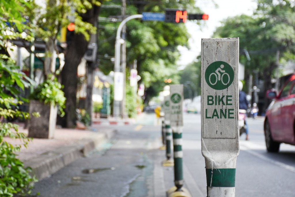 The Green Lane Project Bike Lane Sign