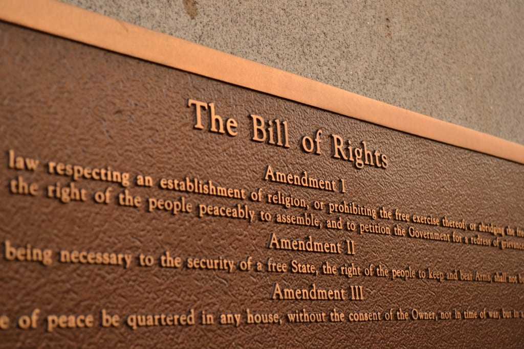 Bill of Rights plaque