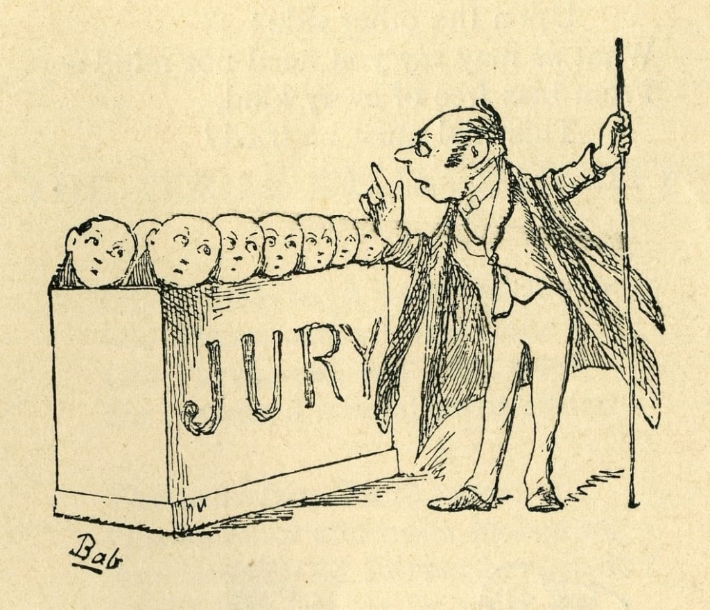 illustration of trial by jury