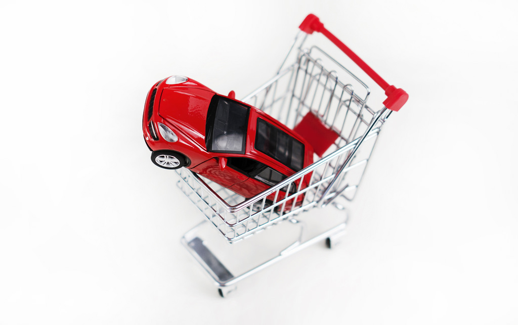 toy car in basket