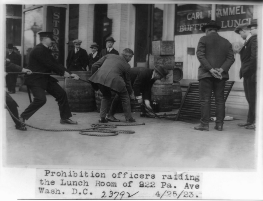 Prohibition of officers raiding the lunch room of 922 Pa ave.