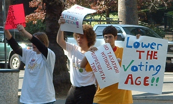 Voting age protest