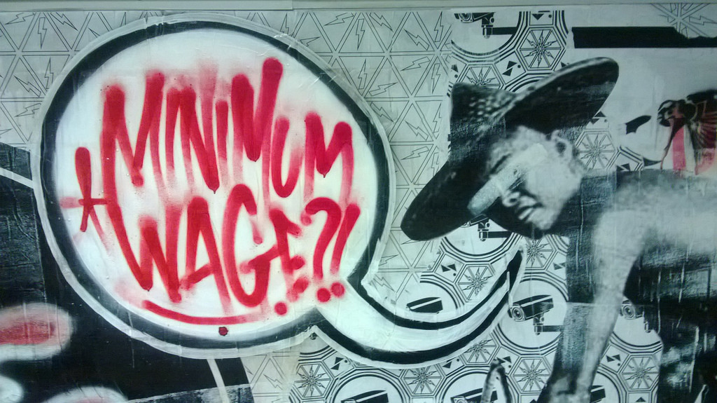minimum wage graffiti