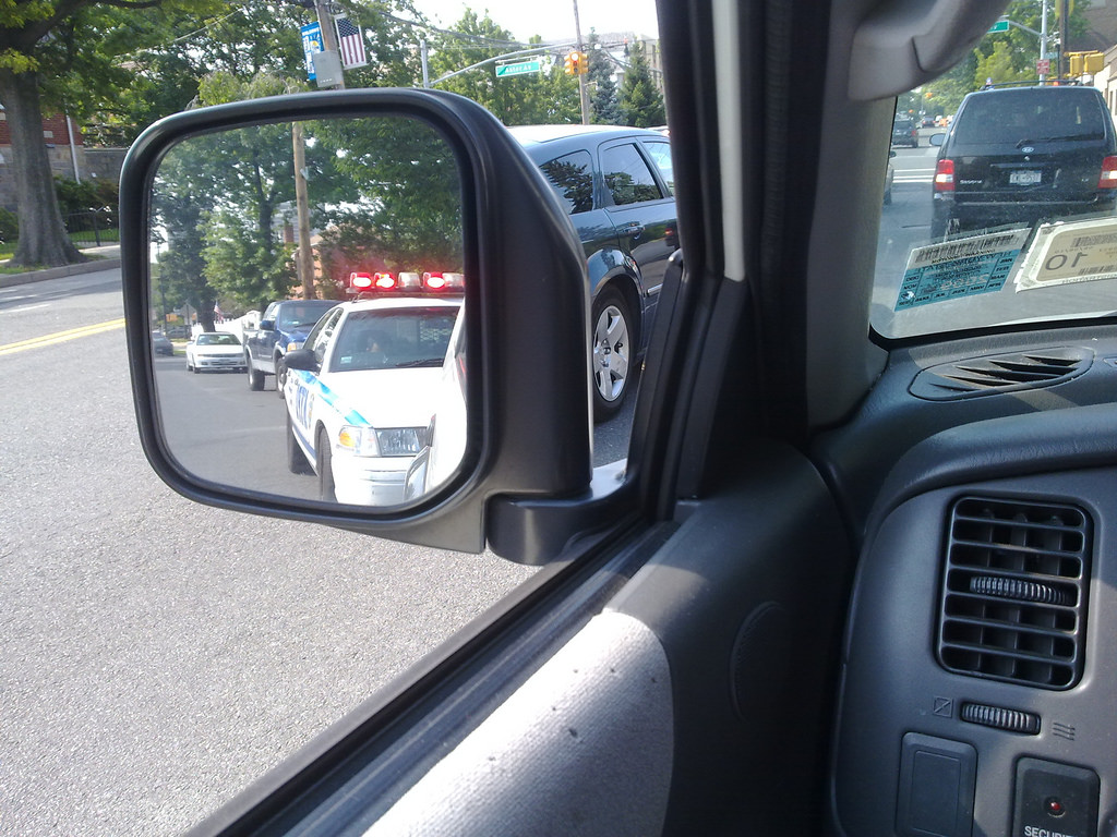 Car pulled over